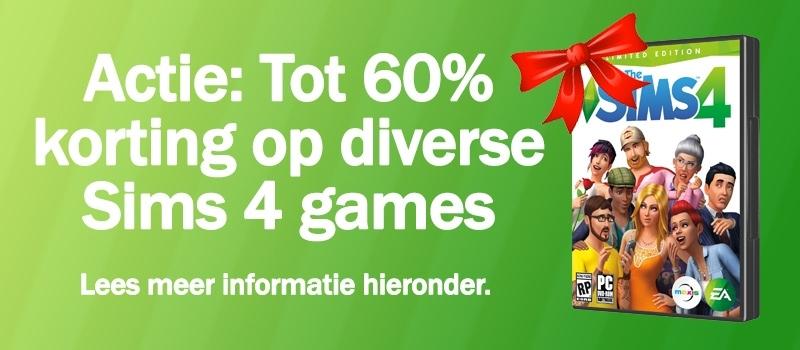 Download/koop Sims 4, Sims 4 Aan het Werk, Sims 4 Beleef het Samen, Sims 4 In de Natuur en Sims 4 Wellnessdag, actie juni