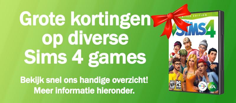 Grote kortingen op Sims 4 games - Januari 2019