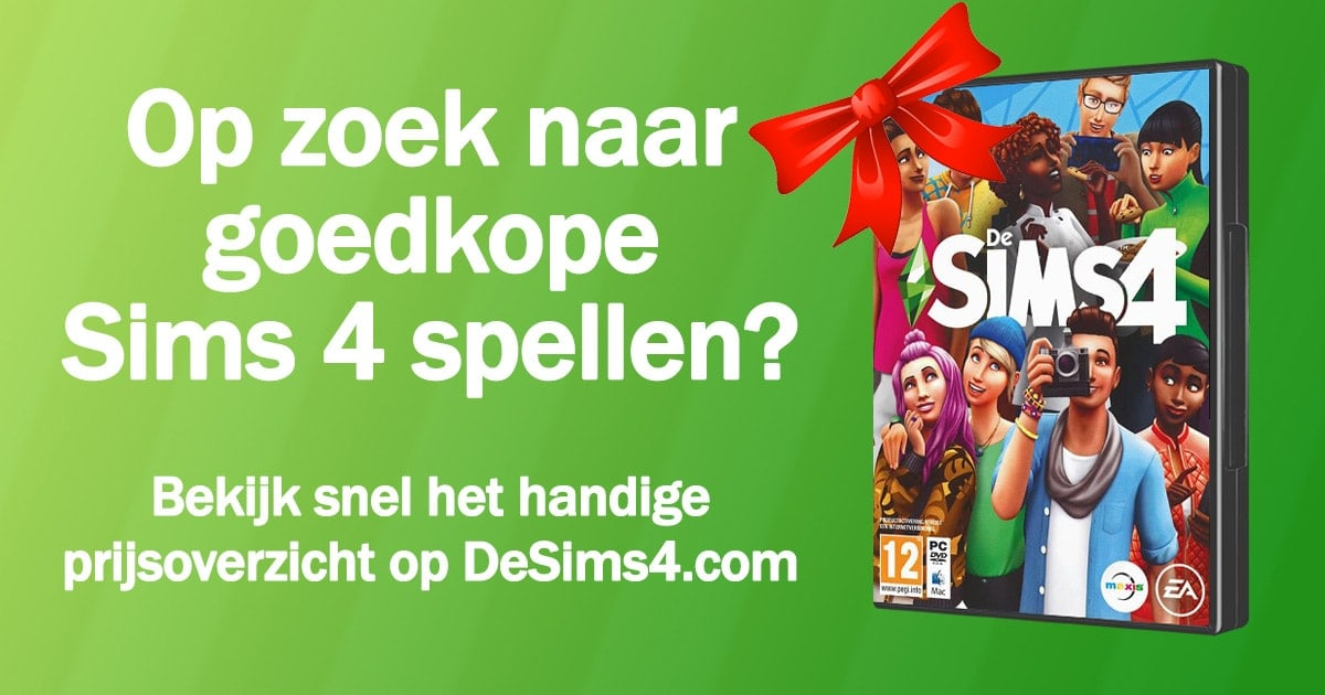 Sims 4 spellen kopen - Prijsupdate januari 2020