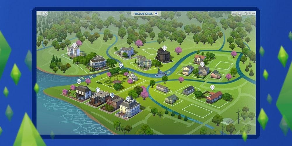 Nieuwe buurten en werelden in De Sims 4