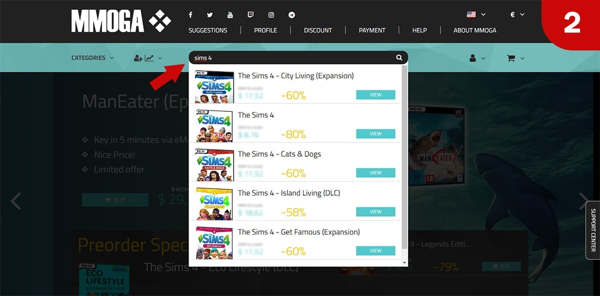 Download Sims 4 games bij MMOGA - Stap 2