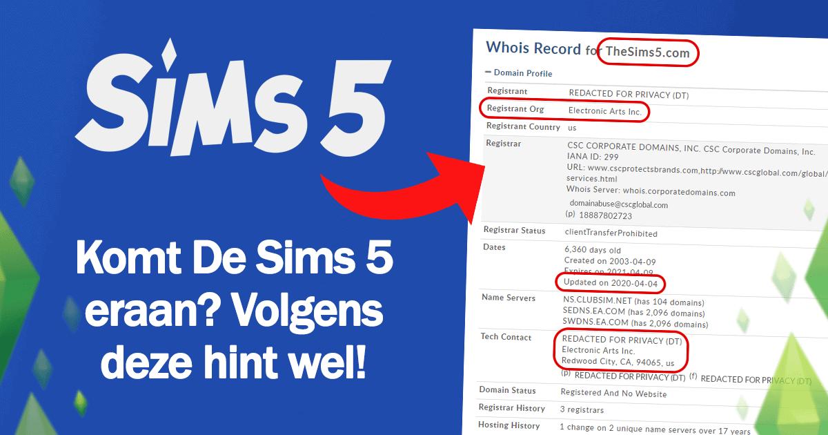 Wordt De Sims 5 binnenkort uitgebracht? Volgens deze hint wel