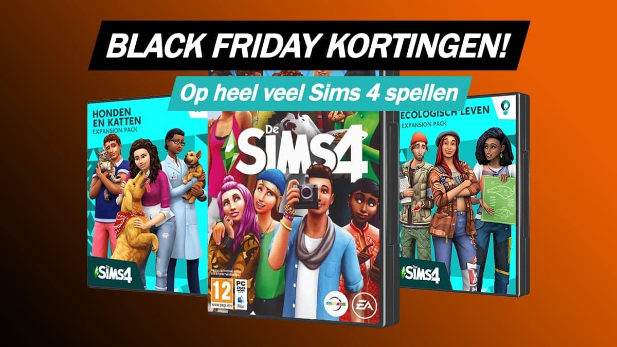 Grote kortingen op Sims 4 basisspellen en uitbreidingen tijdens Black Friday 2020