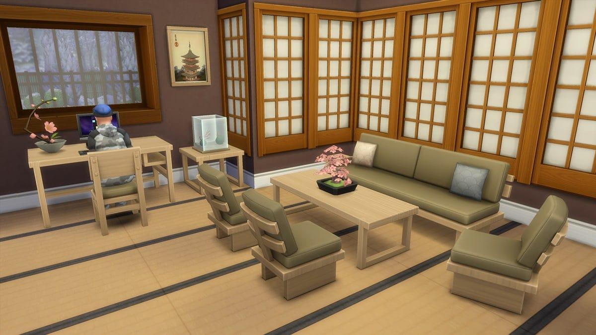 Nieuwe woonkamermeubels in de koopmodus