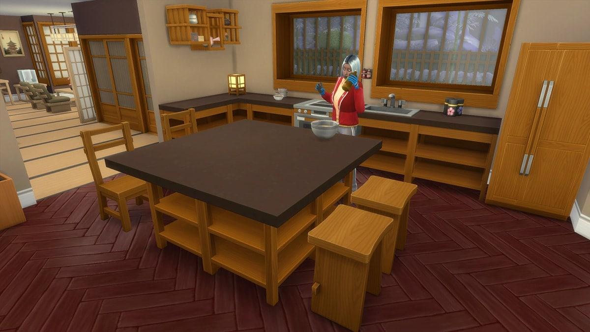 Nieuwe keukenmeubels in de koopmodus