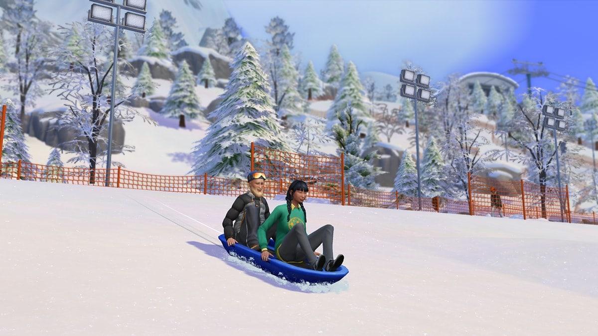 Yukimatsu is een buurt in Mt. Komorebi met pistes om te skiën, snowboarden en sleeën